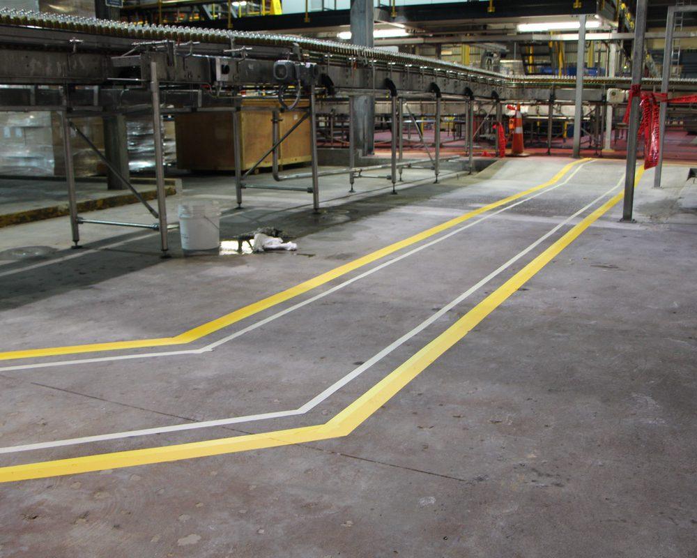 Factory walkway lines
